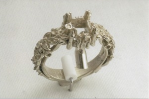 Raw Casting of White Gold